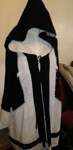 Jean Marc Phillipe Linen  Hooded Dress Cape Size 4